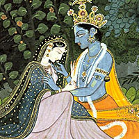 Picture of Radha and Krishna Hindu Gods